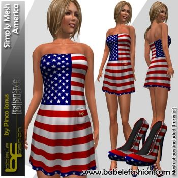 Short dress simply mesh America
