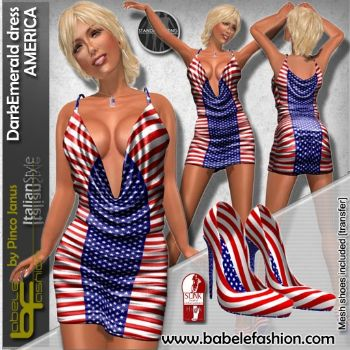 DarkEmerald dress America