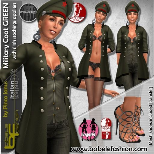 box military coat GREEN