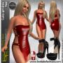 Cubo Girl Dress Red