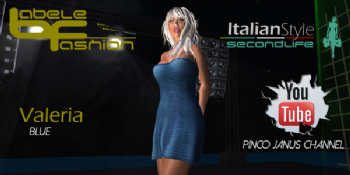 Valeria dress blue : short sensual dress