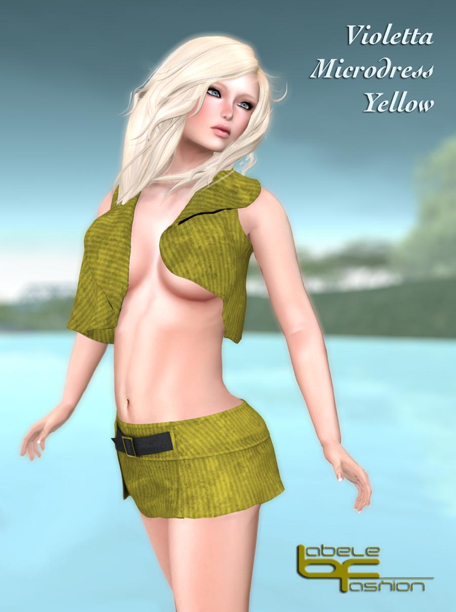violetta microdress yellow